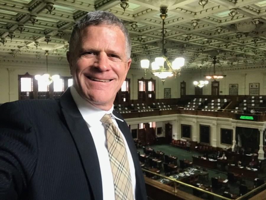 "David Fritts drove to Austin early Wednesday to witness Senators pass ""John and Joseph's Law."" (Courtesy: David Fritts)"