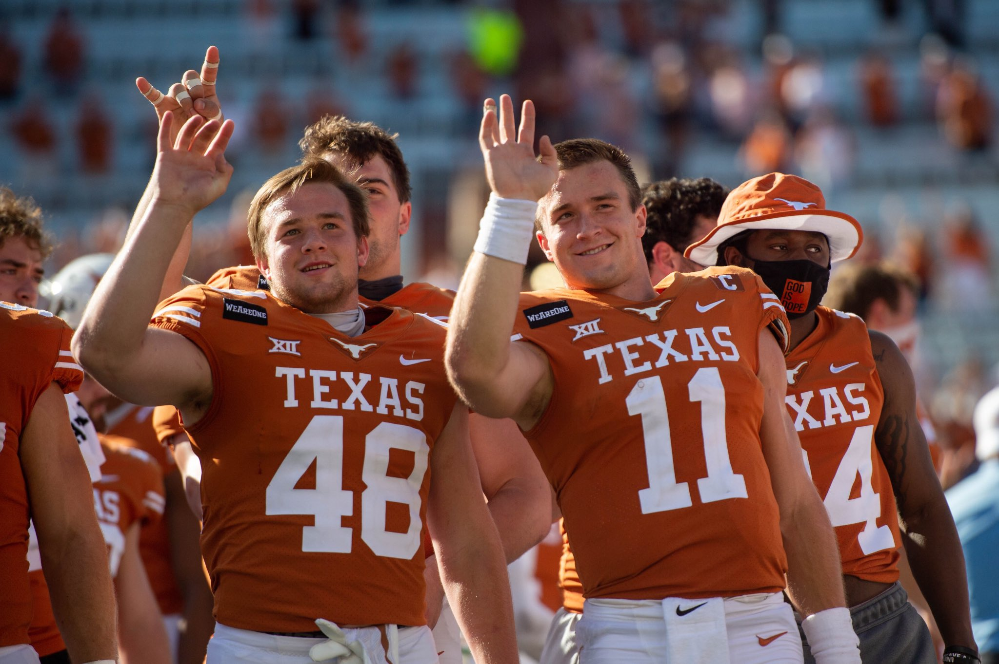 Jake Ehlinger, left, with his brother Sam Ehlinger, right (Courtesy Texas Athletics)