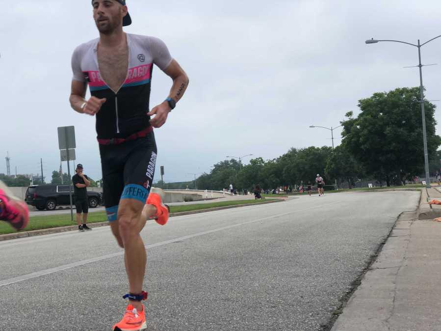 Athletes compete in the 2021 CapTex Triathlon on Memorial Day in Austin (KXAN Photo/Julie Karam)