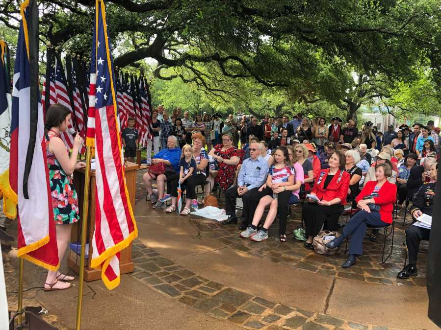 Memorial Day Service at Texas State Cemetery on May 31, 2021 (KXAN Photo/Frank Martinez)