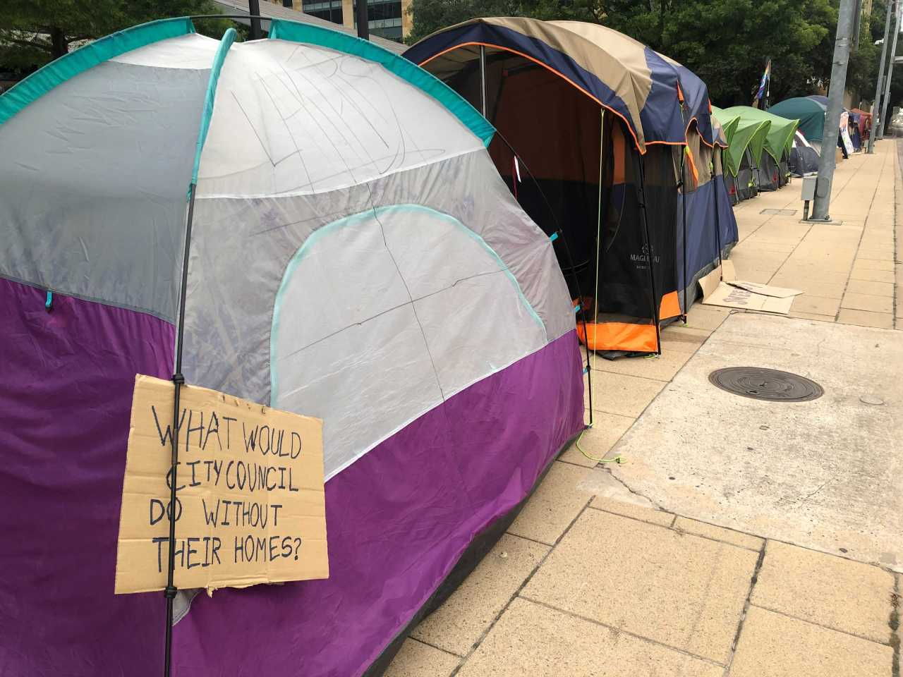 Here are the 4 phases of Austin's camping ban