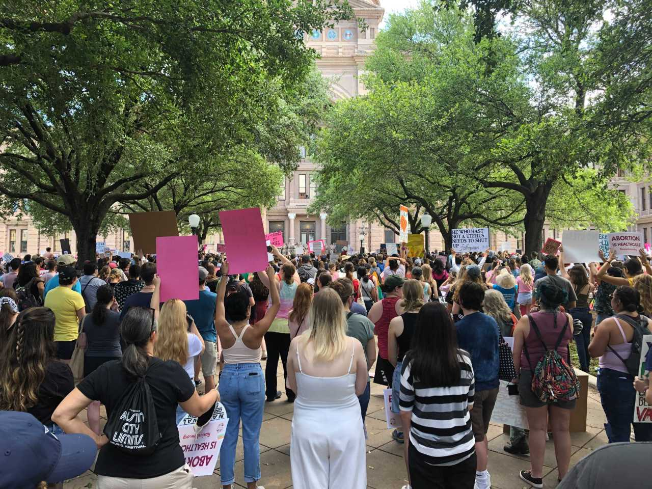 Pro-choice protesters rally in Austin against Texas' anti-abortion heartbeat bill