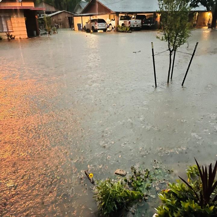 Flooding in La Grange (Courtesy of Jose Estrada)