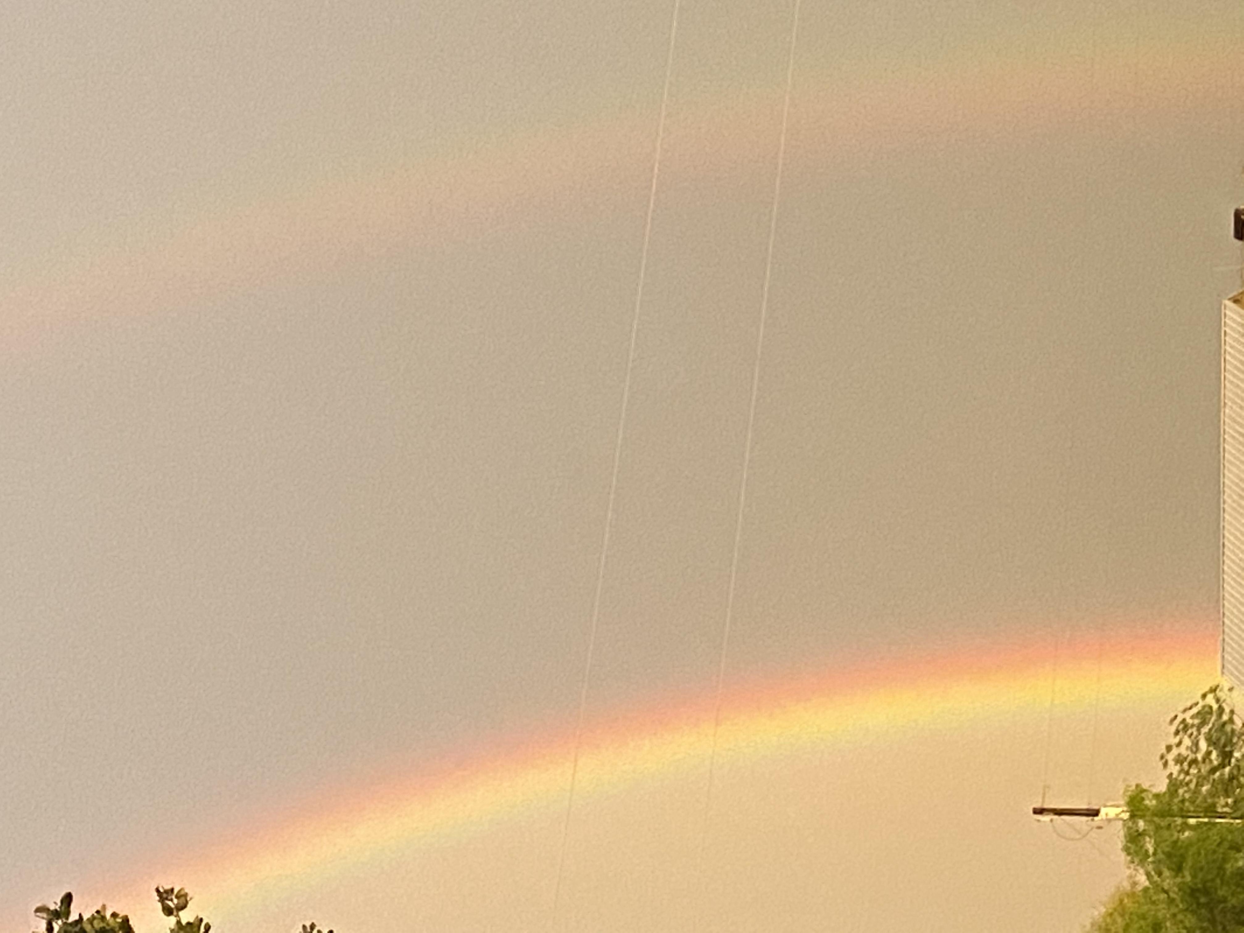 Rainbow in Winchester, Texas (Courtesy of Karen Robbins)
