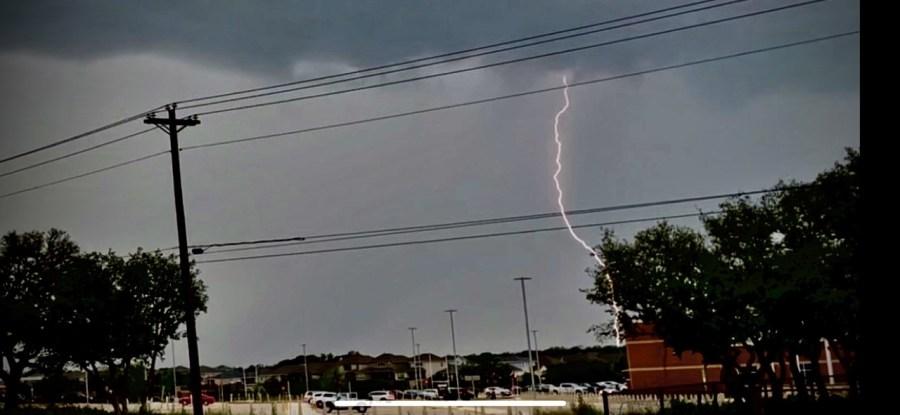 Lightning in North Leander