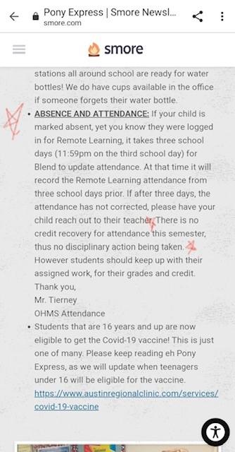 O. Henry Middle School newsletter 05042021