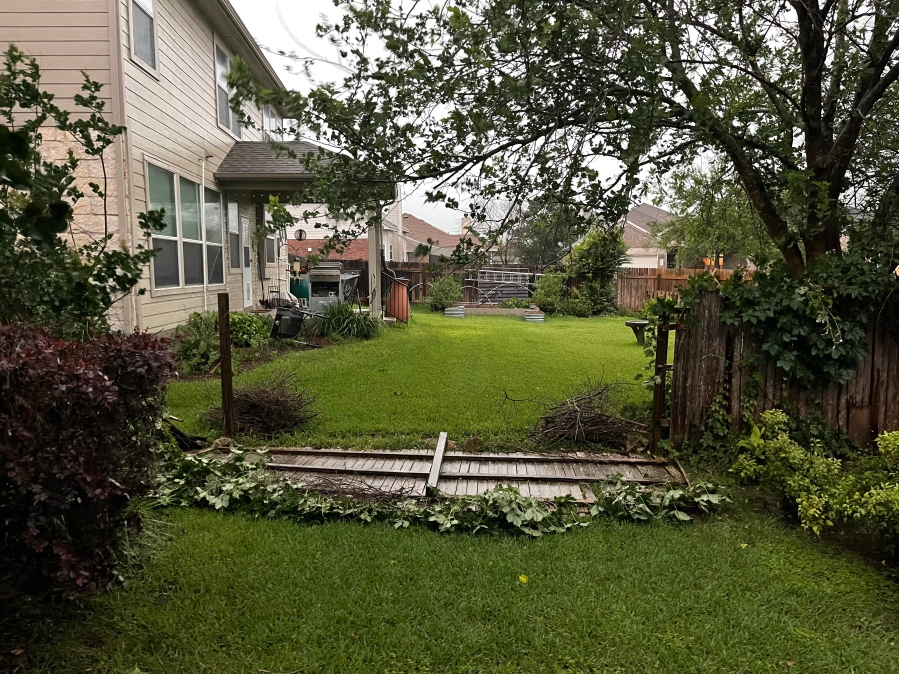 Fence blown over in Round Rock (Courtesy: Ryan Price)