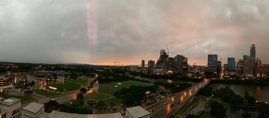 Sunset after storm in Austin (Courtesy Adam Mosier)