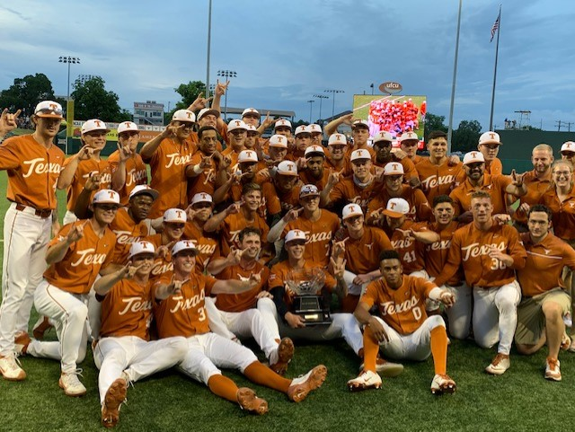 Texas baseball wins 2021 Big 12 Championship