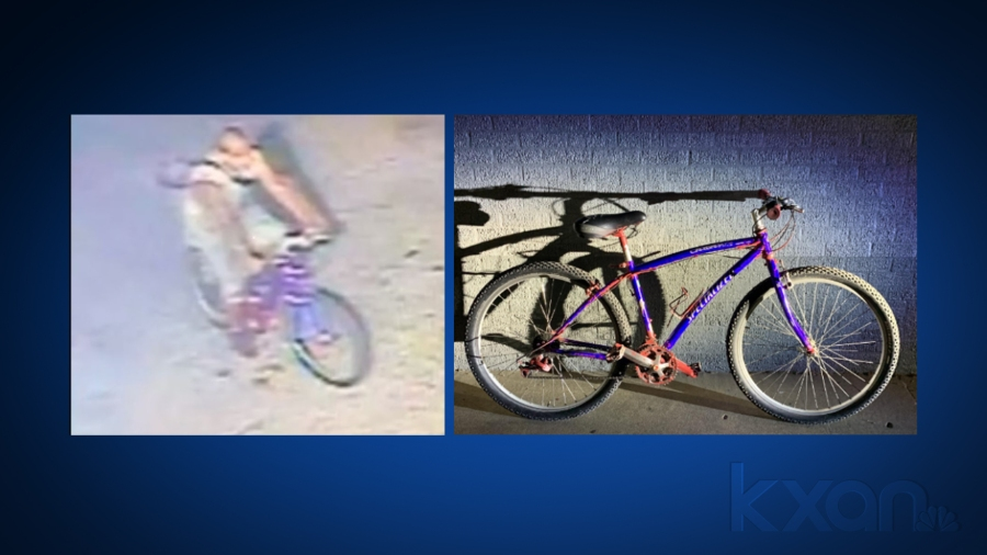 APD provided these photos of a man and the bike he was riding when an alleged sexual assault occurred Tuesday morning in the 500 block of I-35.
