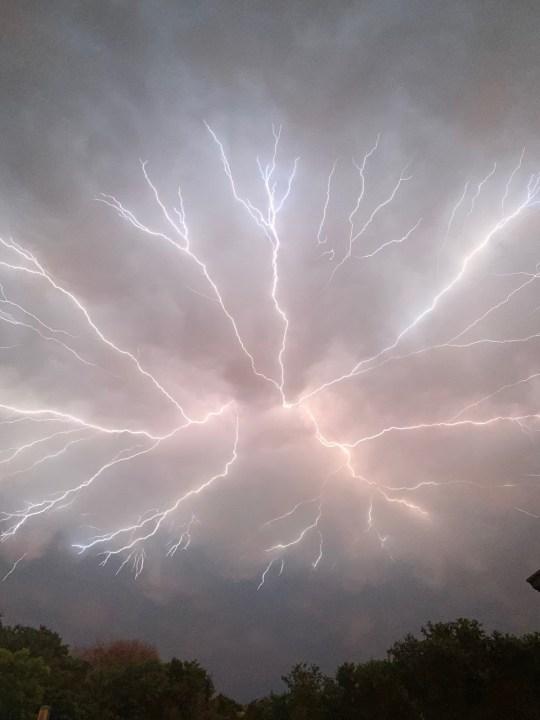 Lightning in Del Valle (Courtesy of Emma Lowe)