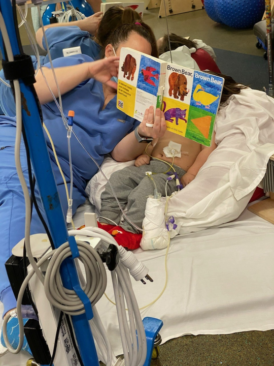 Ezera in the hospital (Courtesy: Kortney Moss)