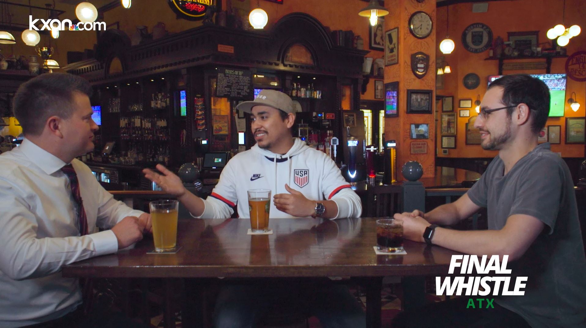 Nick Bannin, Wyatt Matson and Harley Tamplin discuss Austin FC in the second episode of Final Whistle ATX (KXAN Photo)