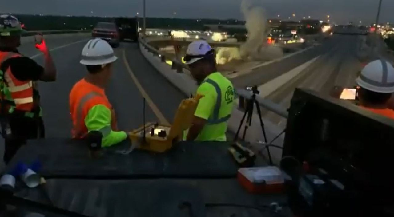 I-35 to US 183 flyover blown up as TxDOT begins new improvement project