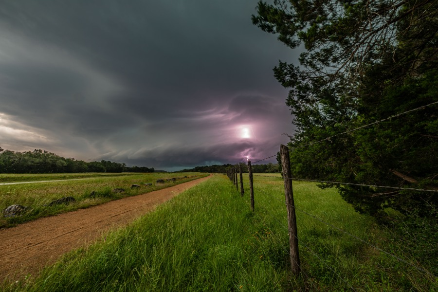 Storm spotted from Wimberley, Texas (Courtesy of Jerry Moreno)
