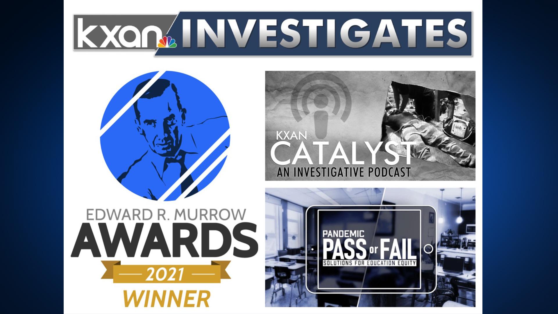 KXAN team members won a total of four regional Edward R. Murrow awards in 2021 (KXAN Photo)