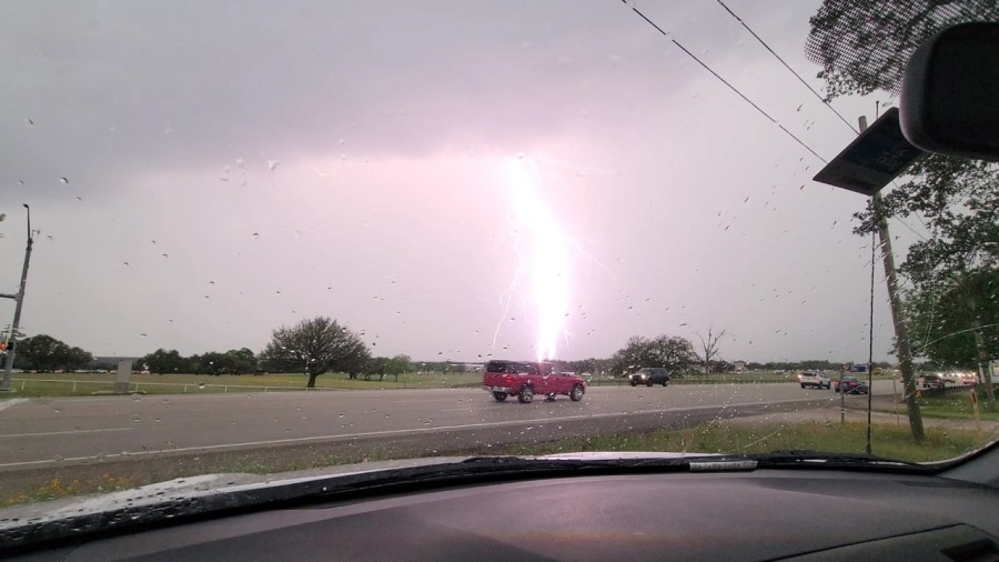 Storm in Lockhart on Tuesday afternoon