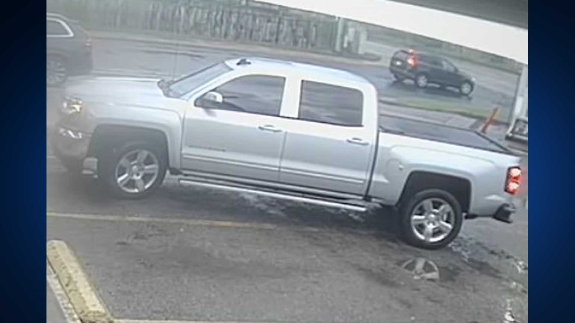 Suspect's truck in Brodie Food Mart robbery (Austin Police Photo)