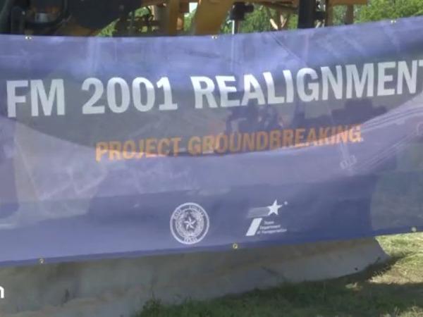 Crews broke ground on a major project to improve FM 2001 in Hays County on Thursday. (KXAN Photo/Jala Washington)