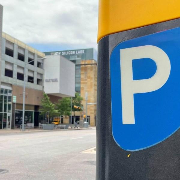 Parking meter in downtown Austin (KXAN Photo/Jaclyn Ramkissoon)