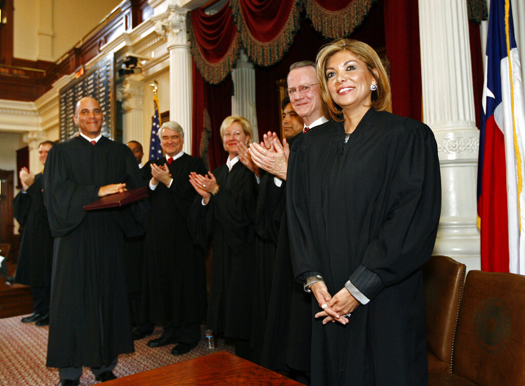 Justice Eva A. Guzman (AP Photo/Erich Schlegel)