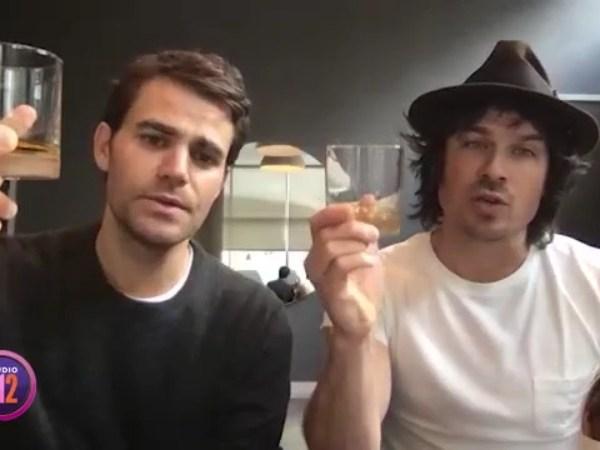 Paul Wesley & Ian Somerhalder share a toast with Studio 512 to their new liquor, Brother's Bond Bourbon