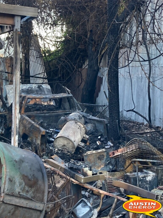 Austin Energy says a fire on E. St. Elmo Road caused a 3,000-customer outage June 17, 2021 (Austin Energy Photo)