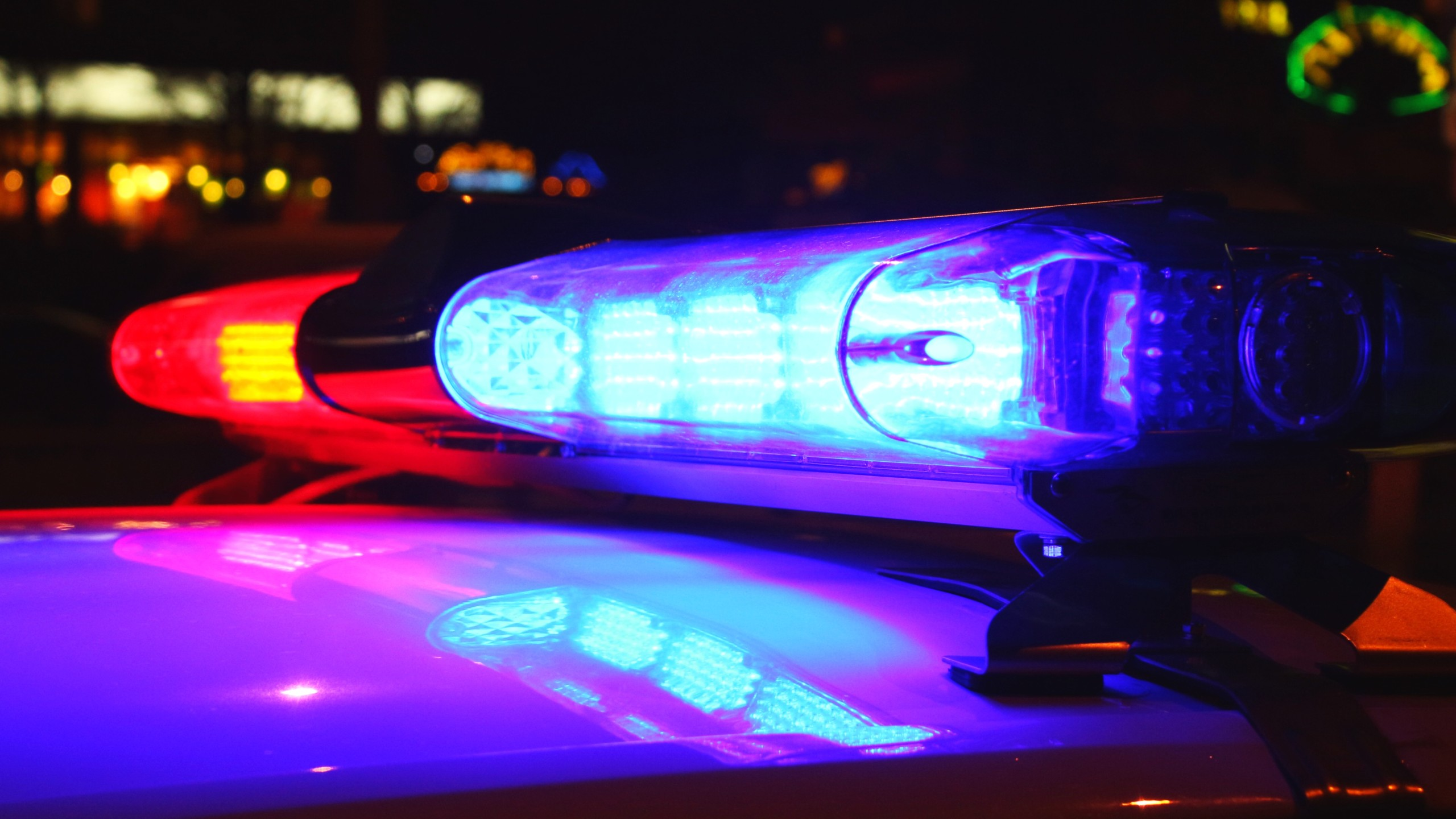 Police lights by night (Getty Images)
