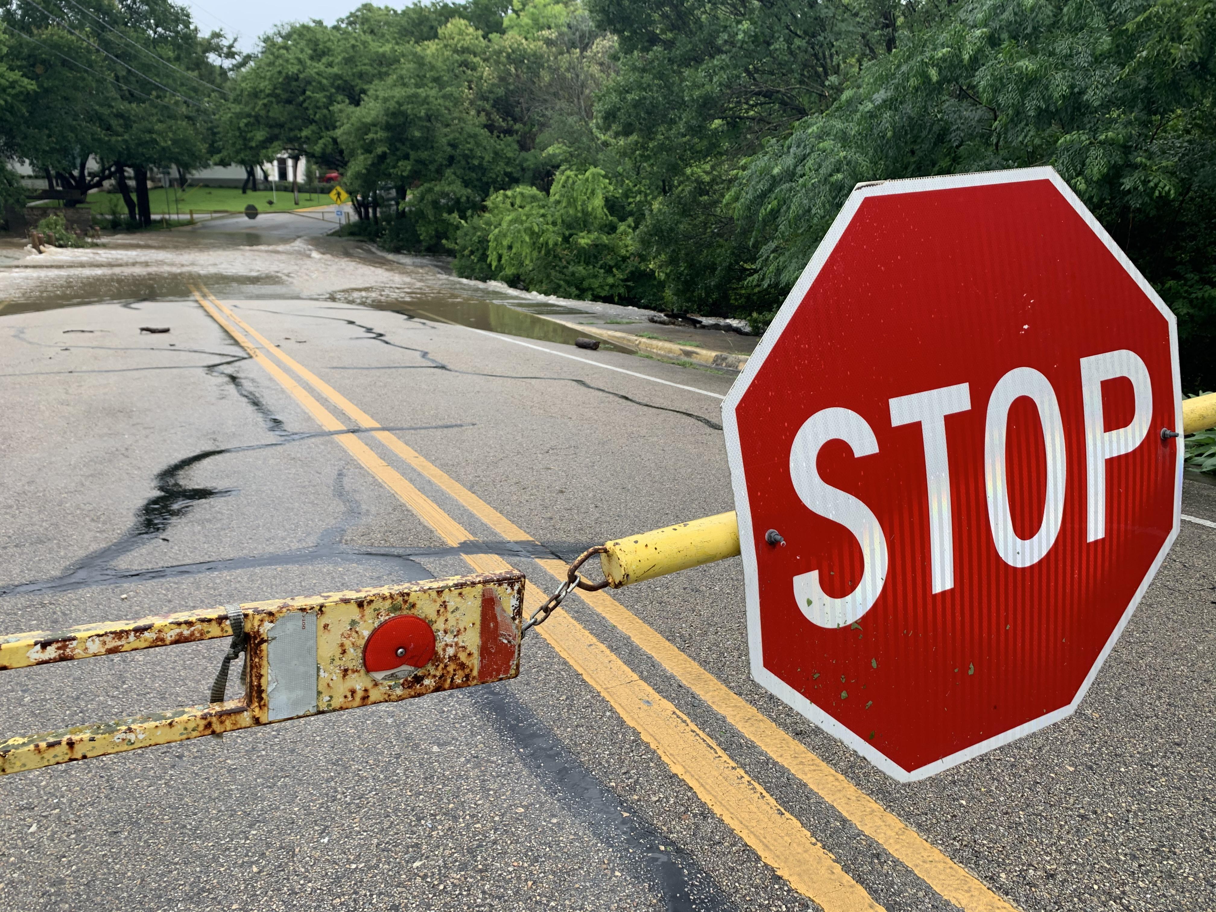 A low water crossing in Rollingwood near Bee Cave Road (KXAN Photo/Avery Travis)