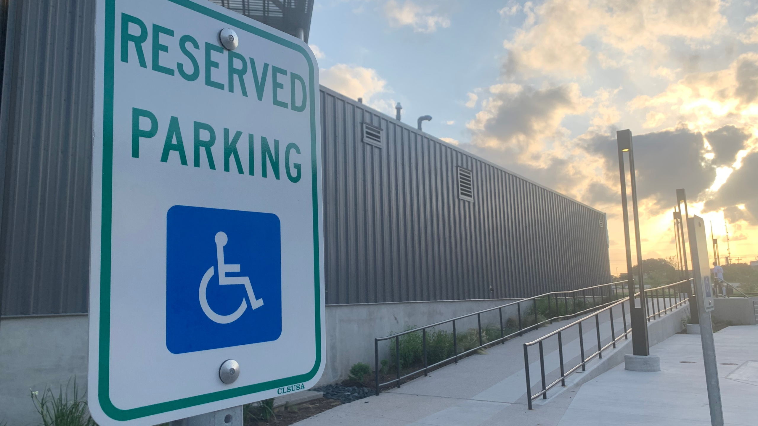 Reserved, accessible parking sign (KXAN Photo/Avery Travis)
