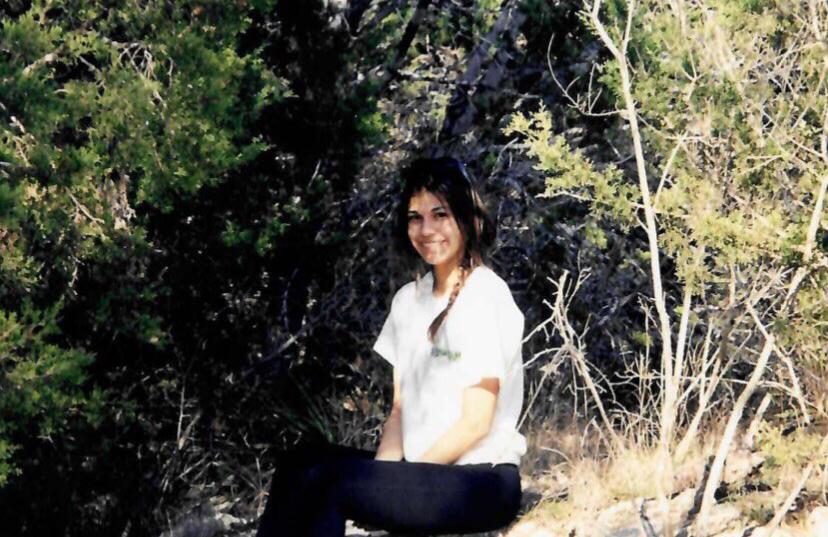 Hiking at Bull Creek as a teenager (Courtesy Britt Moreno)