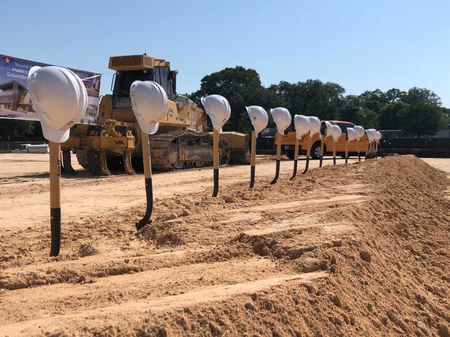 Round Rock library groundbreaking June 17, 2021 (KXAN Photo/Chris Nelson)