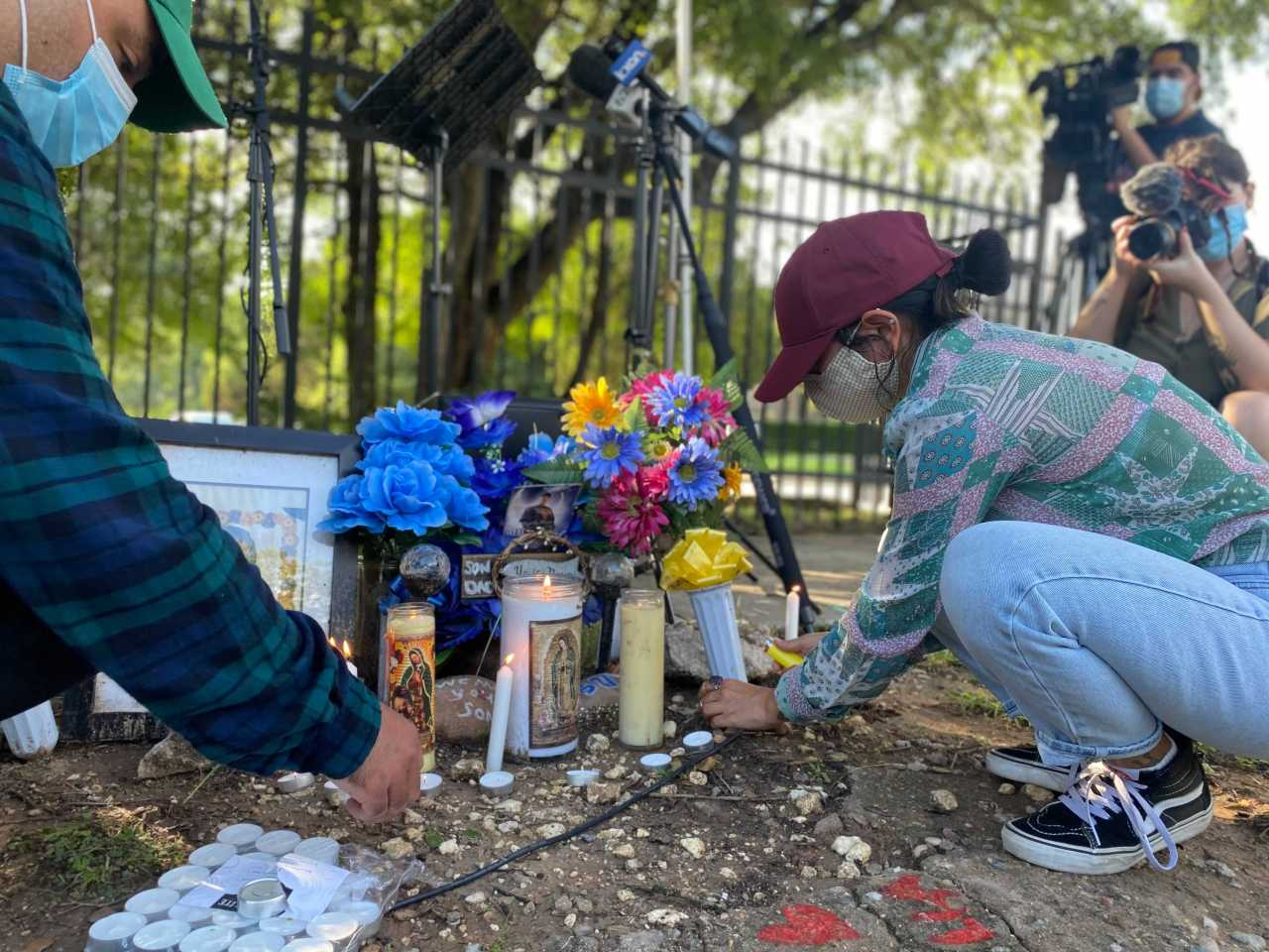 Families hold rally calling for justice for men shot dead in Austin