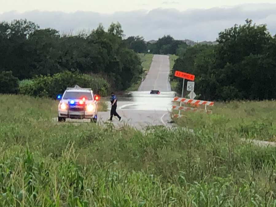 Water rescue on Old Kimbro Road