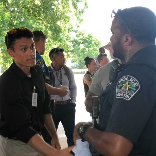 Austinites got to meet with cadets in the June 2021 Austin police academy class (KXAN Photo/Chris Nelson)