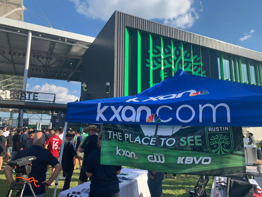 Austin FC fans line up to get into Q2 Stadium for the team's first home game (KXAN Photo/Ricky Garcia)
