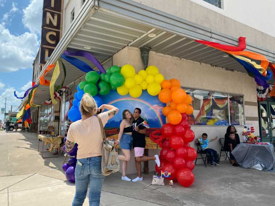 Taylor Pride organizer Denise Rodgers says many community businesses and neighbors donated to the town's celebration. (KXAN Photo/Tahera Rahman)