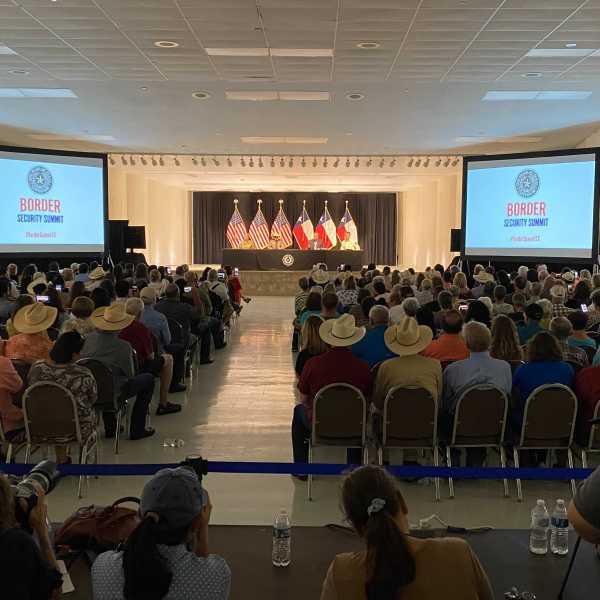 Texas Gov. Abbott hosts border security summit in Del Rio (Nexstar Photo/Wes Rapaport)