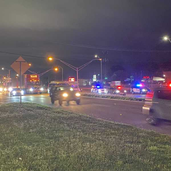 A person was hit and killed by an 18-wheeler Wednesday morning on I-35. The crash closed a portion of the freeway between 51st Street and Airport Blvd. (KXAN photo/Nabil Remadna)