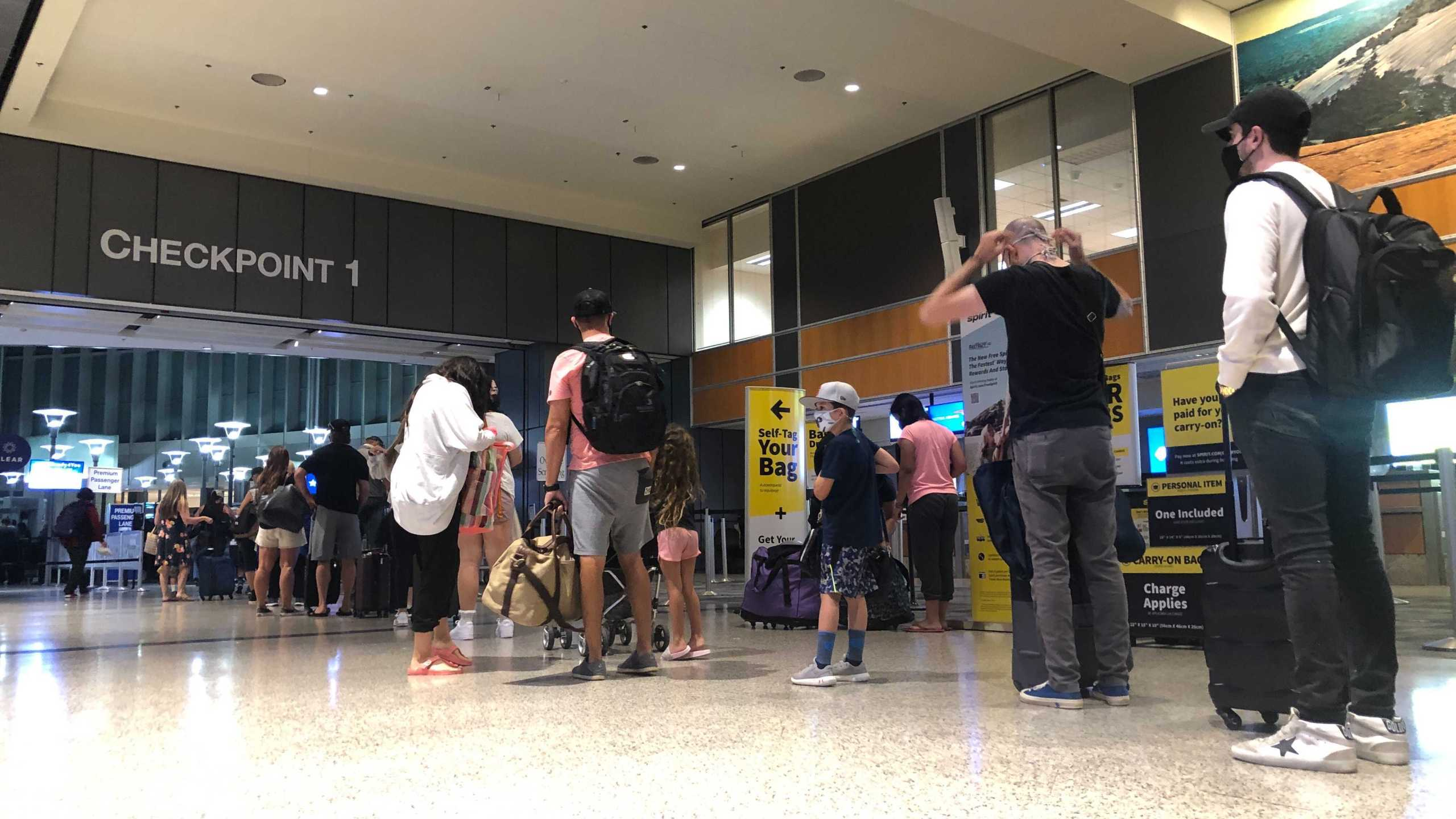 Officials at Austin-Bergstrom International Airport say if you have a flight before 8 a.m. to get to the airport t least 3 hours early to navigate the check-in process and security checkpoints. (KXAN photo/Julie Karam)