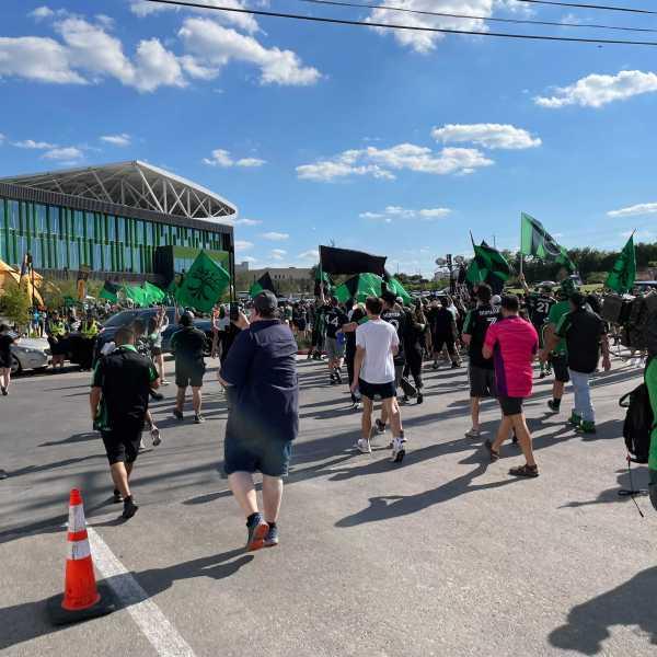 Austin Anthem march to the Austin FC match 6-19-21
