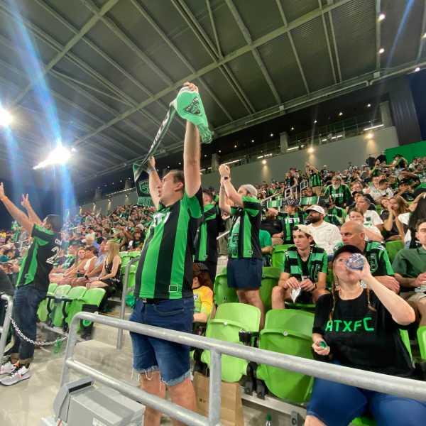 Austin FC fans at Q2 Stadium