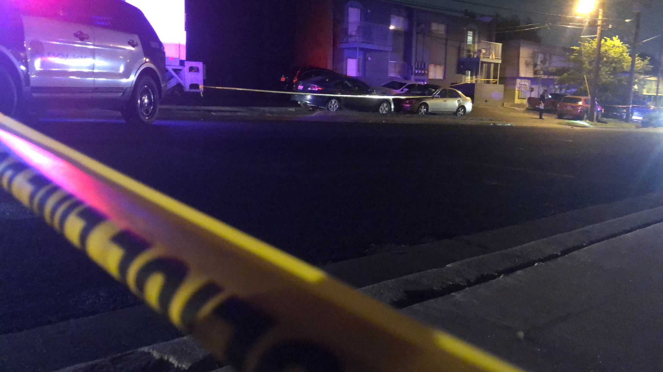 A man is in the hospital with life-threatening injuries Wednesday after he was shot on Duval Street in north Austin. (KXAN photo/Julie Karam)