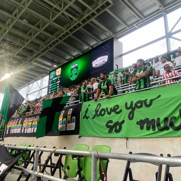 Austin FC supporter stands 6-27-21