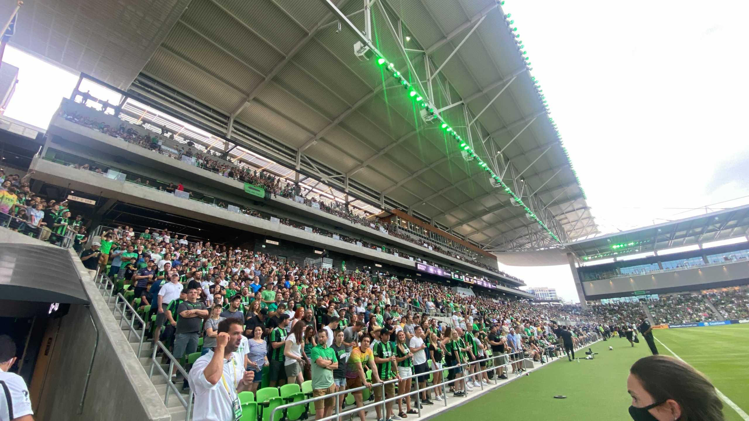 Austin FC fans at Q2 Stadium 6-27-21
