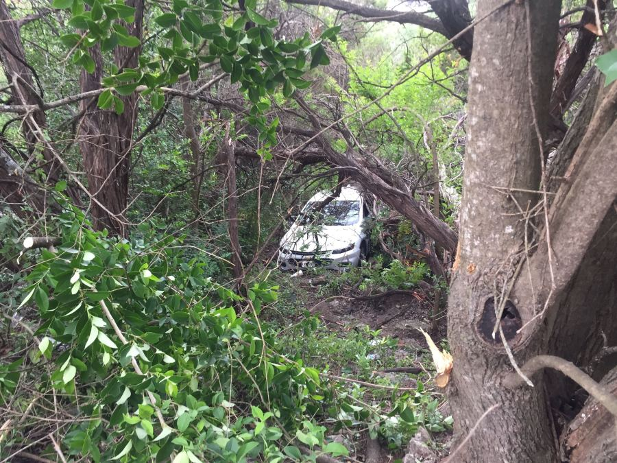 Car off cliff in west Austin 6-28-21