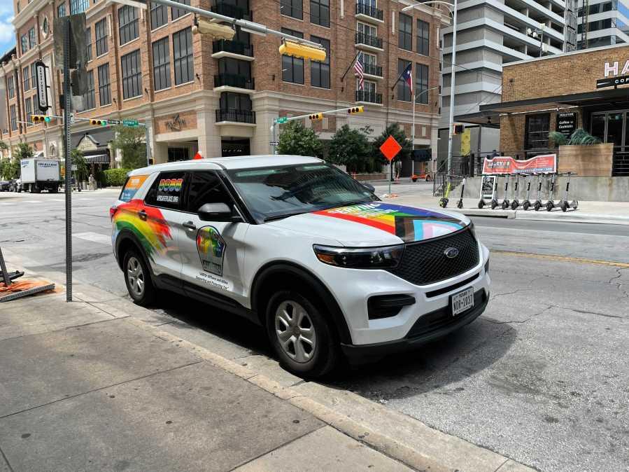 Austin Police Pride car