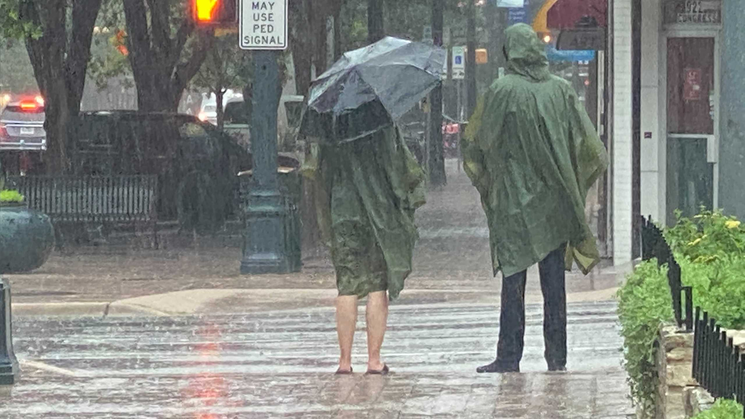 Rainy day in Downtown Austin
