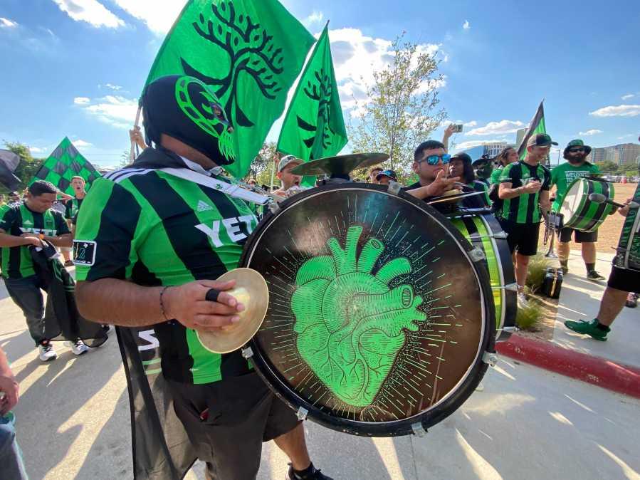 Austin Anthem heading to Q2 Stadium June 19, 2021 (KXAN Photo/Todd Bynum)
