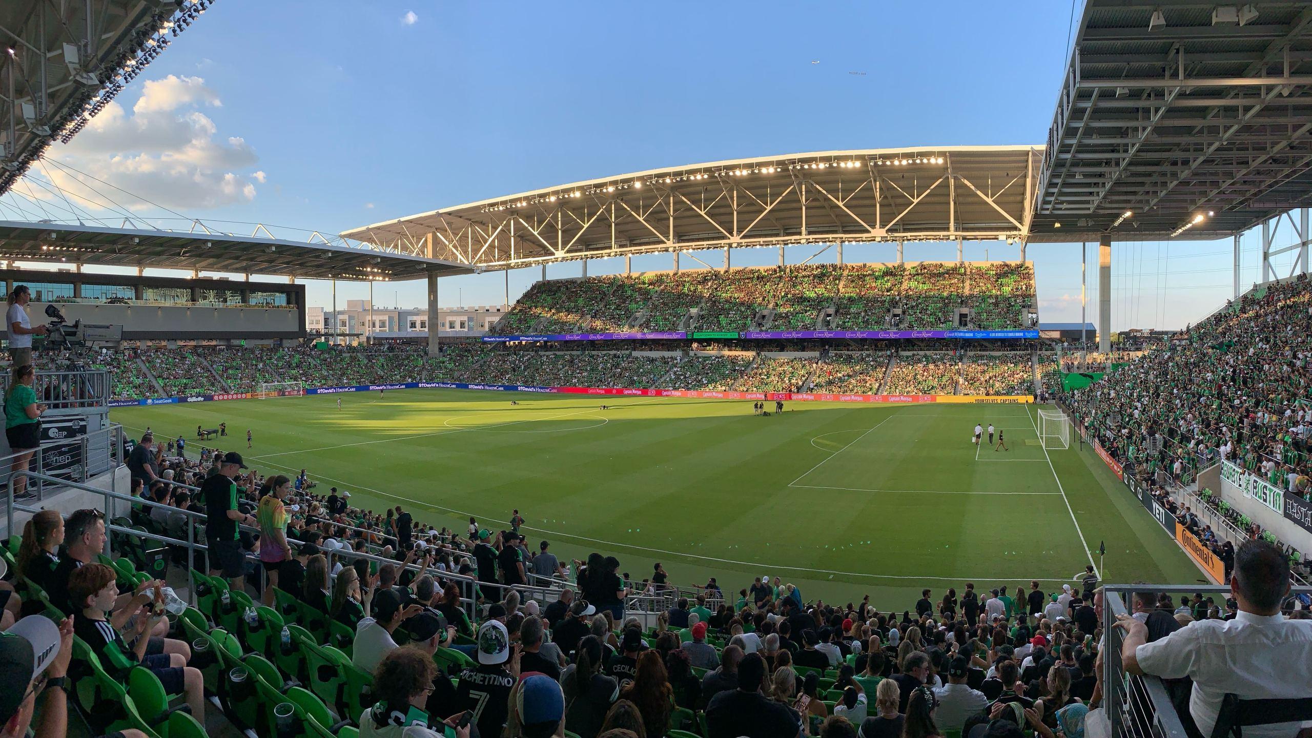 Q2 Stadium just before kickoff of Austin FC's home opener (KXAN Photo)